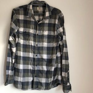 👽Vans casual plaid button down shirt